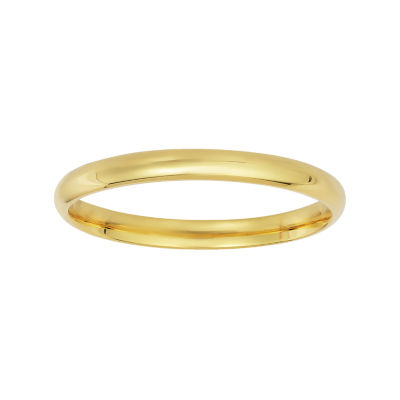 Womens Sterling Silver Gold Over Silver Wedding Band