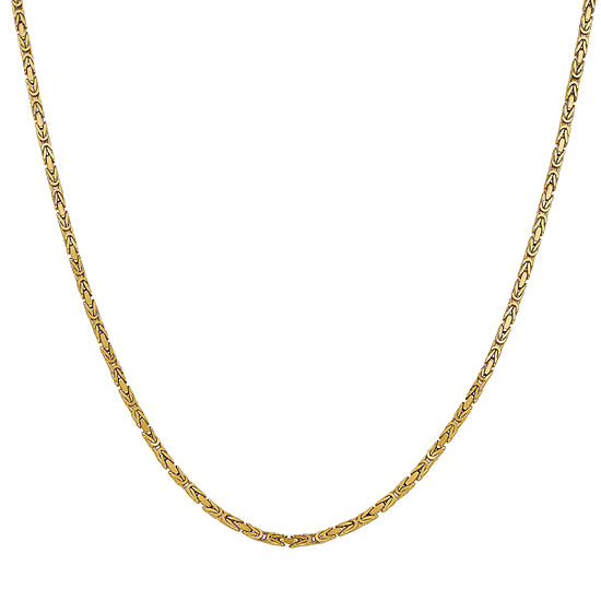 14K Gold 20 Inch Solid Byzantine Chain Necklace