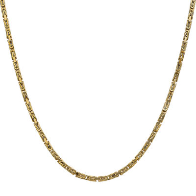 14K Gold 30 Inch Solid Byzantine Chain Necklace