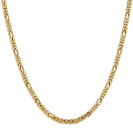 14K Gold 18 Inch Solid Byzantine Chain Necklace