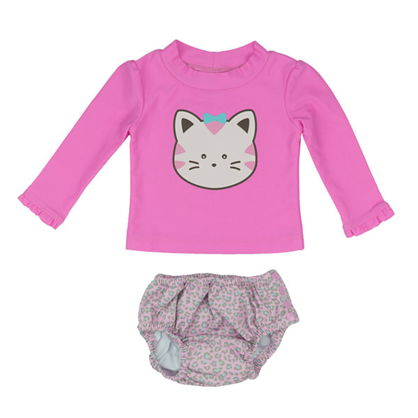 Kiko & Max Leopard Rash Guard Set - Baby