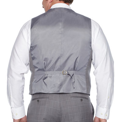 Stafford Grid Classic Fit Suit Vest - Big and Tall
