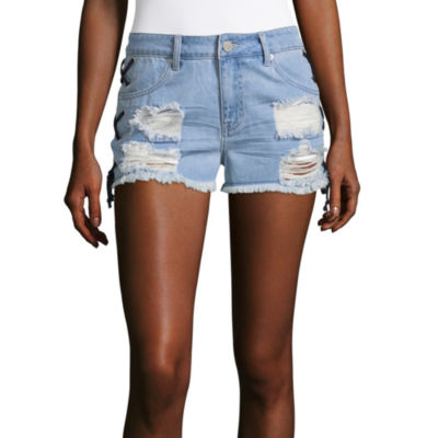 "Ashley Mason Womens Mid Rise 2"" Denim Short-Juniors"