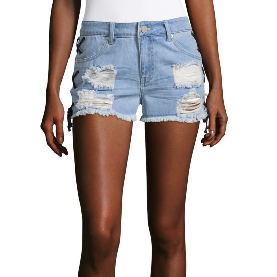 "Ashley Mason 2"" Denim Shorts-Juniors"