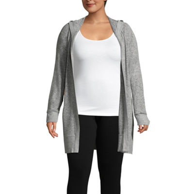 Flirtitude Hooded Cardigan - Juniors Plus