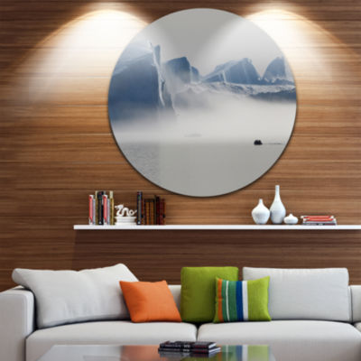 Design Art Nature of Greenland Disc Landscape Photography Circle Metal Wall Art