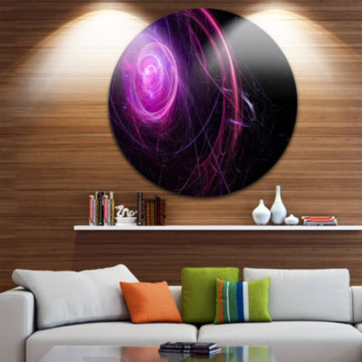 Design Art Nebula is a bright star. Star swirl. Colored sparks Contemporary Metal Circle Wall Art