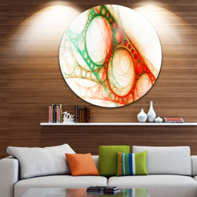 Design Art Red Green Metal Constructions AbstractCircle Metal Wall Art