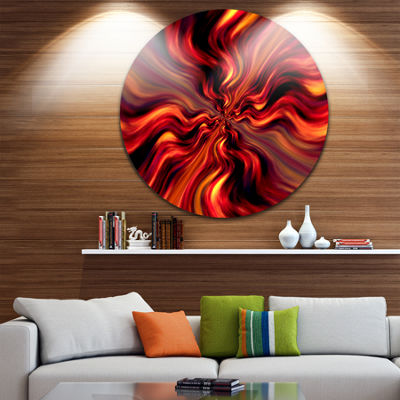 Design Art Red Infinity Illustration Abstract Circle Circle Metal Wall Art