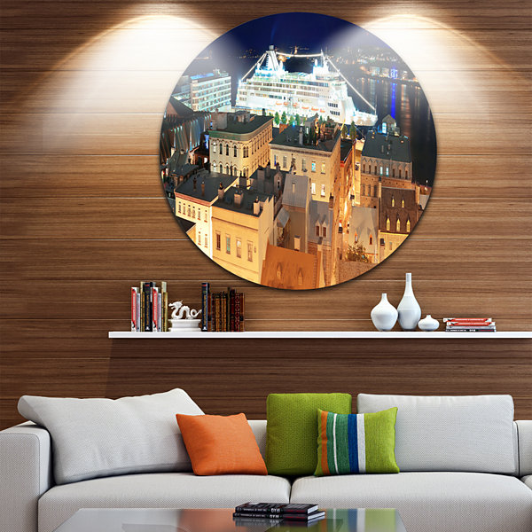 Design Art Quebec City Disc Cityscape Photo CircleMetal Wall Art