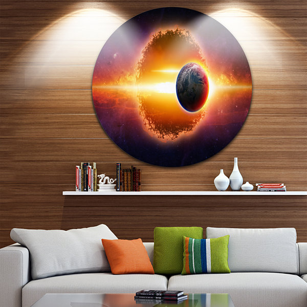 Design Art Real Star Wars Spacescape Circle MetalWall Art