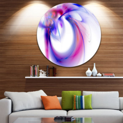 Design Art Purple Abstract Fractal Art Abstract Circle Metal Wall Art