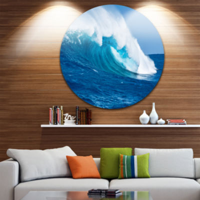 Design Art Sea Returns Disc Photography Seascape Circle Metal Wall Art
