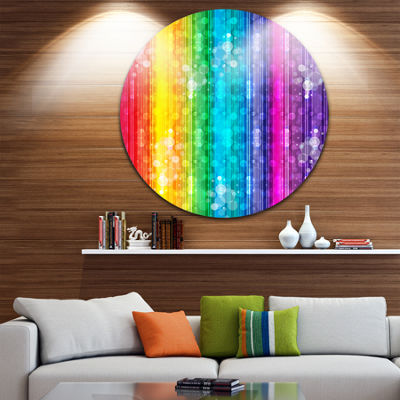 Design Art Rainbow Effects Illustration Abstract Circle Metal Wall Art