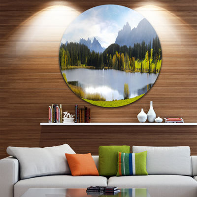Design Art Panorama Landscape in Bavaria Disc Photography Circle Metal Wall Art