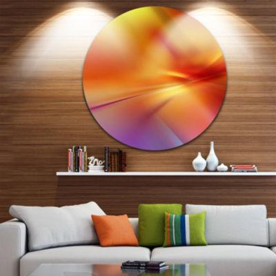 Design Art Orange Red Art Abstract Circle Metal Wall Art