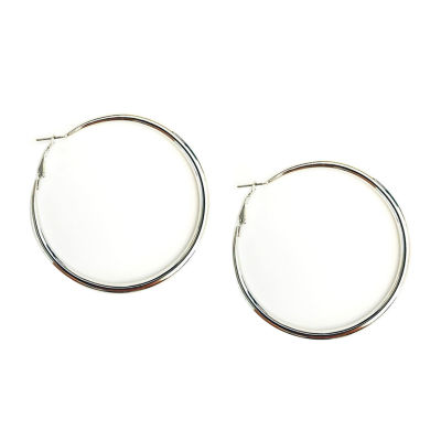 Arizona Gray 63.5mm Hoop Earrings