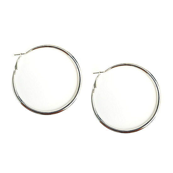 Arizona Gray 63.5mm Hoop Earrings