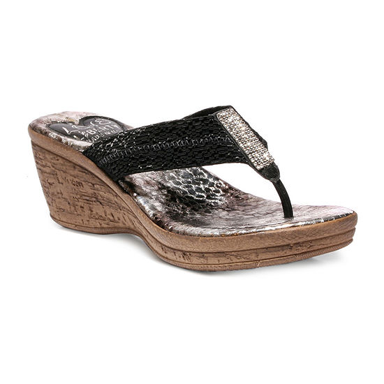 Love And Liberty Womens Ally Wedge Sandals