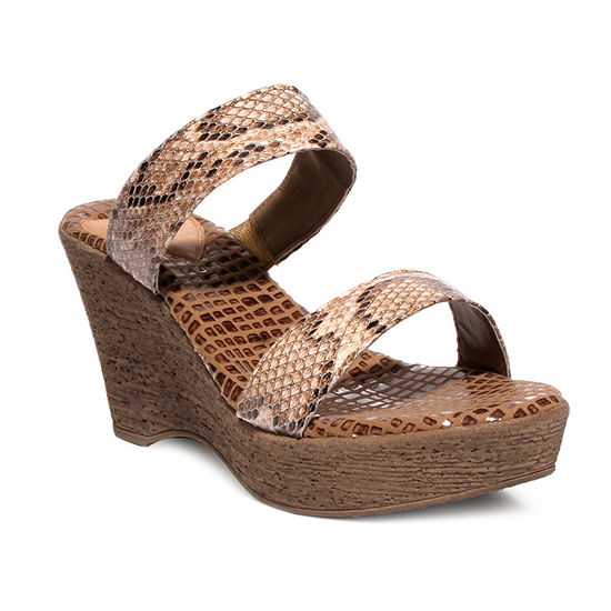 Love And Liberty Womens Jade Wedge Sandals