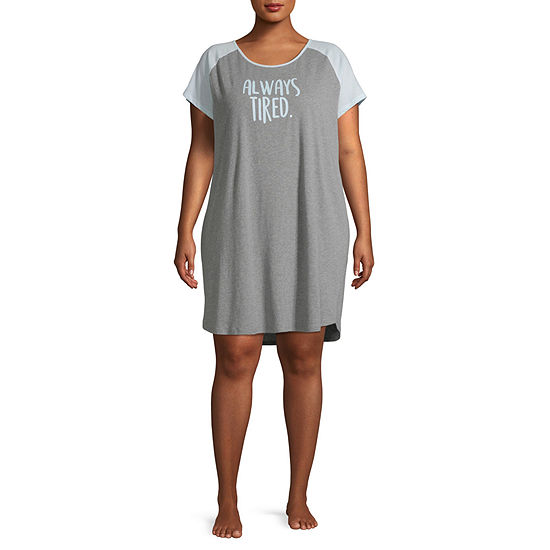 City Streets Womens-Plus Nightshirt Short Sleeve Mommy and Me