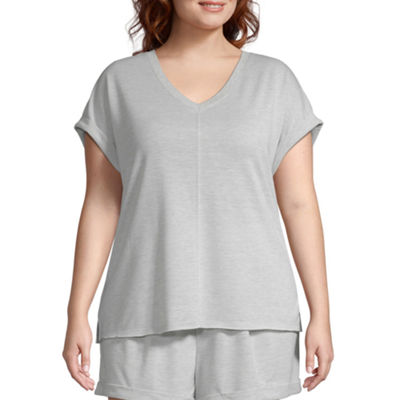 Ambrielle Womens Pajama Top - Plus