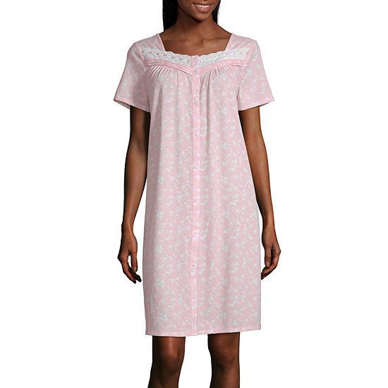 Adonna Womens Nightgown Short Sleeve Sweetheart Neck