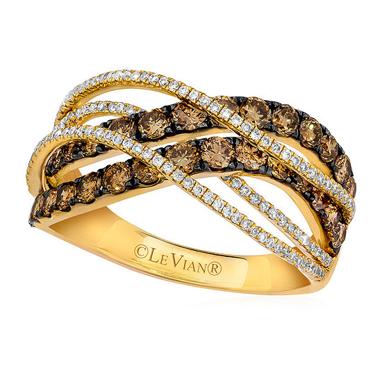Limited Quantities Le Vian Grand Sample Sale Vanilla Diamonds Chocolate Diamonds 1 1 6 Cttw Ring Set In 14k Honey Gold