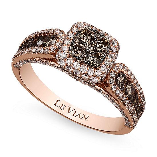 LIMITED QUANTITIES Le Vian Grand Sample Sale™ Chocolate Diamonds® & Vanilla Diamonds® Ring set in 14K Strawberry Gold®
