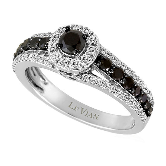 LIMITED QUANTITIES Le Vian Grand Sample Sale™ Blackberry Diamonds® & Vanilla Diamonds® Ring set in 14K Vanilla Gold®
