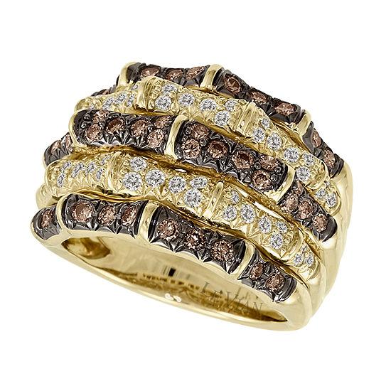 Limited Quantities Le Vian Grand Sample Sale Chocolate Diamonds Vanilla Diamonds Ring Set In 14k Honey Gold