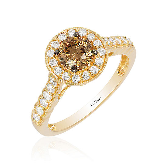 LIMITED QUANTITIES Le Vian Grand Sample Sale™ Chocolate Diamonds® & Vanilla Diamonds® Ring set in 14K Honey Gold™