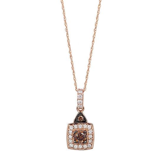 LIMITED QUANTITIES Le Vian Grand Sample Sale™ Chocolate Diamonds® & Vanilla Diamonds® Pendant set in 14K Strawberry Gold®