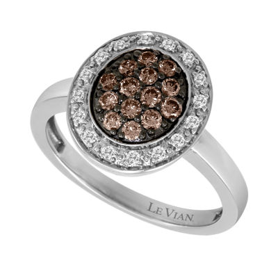 LIMITED QUANTITIES Le Vian Grand Sample Sale™ Vanilla Diamonds® & Chocolate Diamonds® Ring set in 14K Vanilla Gold®