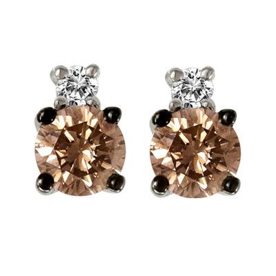 LIMITED QUANTITIES Le Vian Grand Sample Sale™ Chocolate Diamonds® & Vanilla Diamonds® Stud Earrings set in 14K Vanilla Gold®