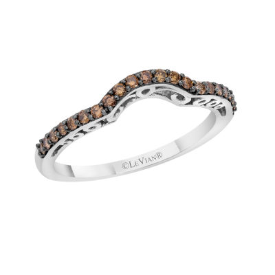 LIMITED QUANTITIES Le Vian Grand Sample Sale™ Chocolate Diamonds® Band set in 14K Vanilla Gold®