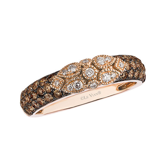 LIMITED QUANTITIES Le Vian Grand Sample Sale™ Chocolate Diamonds® & Vanilla Diamonds® Ring set in 14K Strawberry Gold®