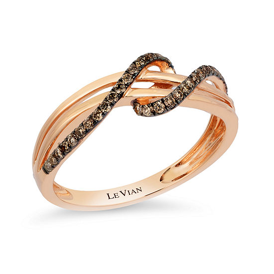 LIMITED QUANTITIES Le Vian Grand Sample Sale™ Chocolate Diamonds® Gladiator Weave™ Ring set in 14K Strawberry Gold®