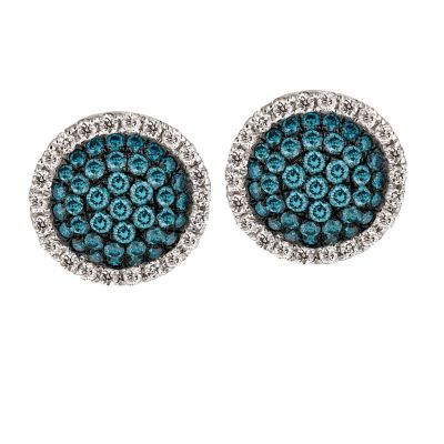 LIMITED QUANTITIES Le Vian Grand Sample Sale™ Vanilla Diamonds® & Iced Blueberry Diamonds® Earrings set in 14K Vanilla Gold®