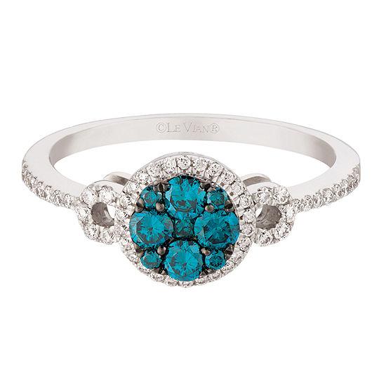 LIMITED QUANTITIES Le Vian Grand Sample Sale™ Vanilla Diamonds® & Blueberry Diamonds® Ring set in 14K Vanilla Gold®