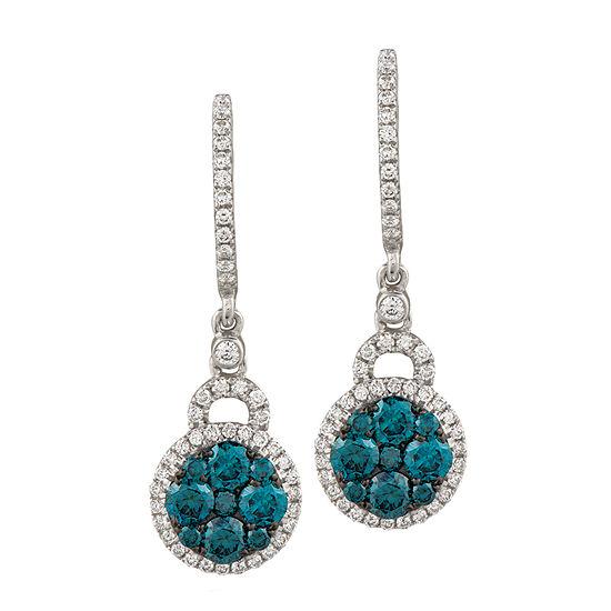LIMITED QUANTITIES Le Vian Grand Sample Sale™ Vanilla Diamonds® & Blueberry Diamonds® Earring set in 14K Vanilla Gold®