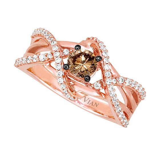 Limited Quantities Le Vian Grand Sample Sale Vanilla Diamonds Chocolate Diamonds Ring Set In 14k Strawberry Gold