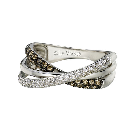 Le Vian Grand Sample Sale™ Ring featuring  Chocolate Diamonds®, & Vanilla Diamonds® set in 14K Vanilla Gold®