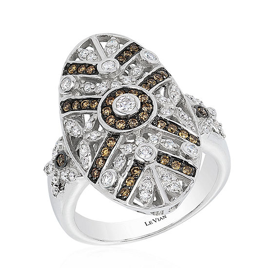 LIMITED QUANTITIES Le Vian Grand Sample Sale™ Chocolate Diamonds® & Vanilla Diamonds® Ring set in 14K Vanilla Gold®
