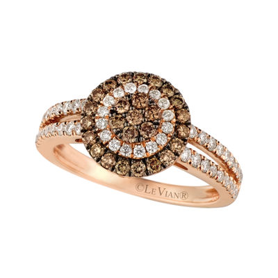 Grand Sample Sale™ by Le Vian® 7/8 CT. T.W. Vanilla Diamonds® & Chocolate Diamonds® 14K Strawberry Gold® Chocolatier® Ring