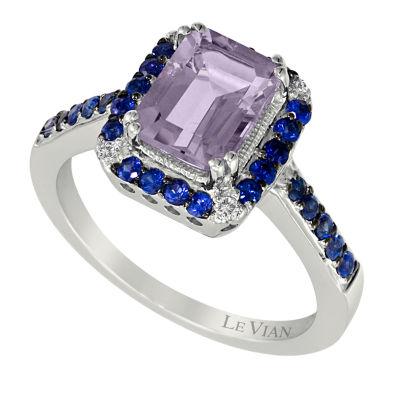 LIMITED QUANTITIES Le Vian Grand Sample Sale™ Grape Amethyst™ , Blueberry Sapphires™, & Vanilla Diamonds® Ring set in 14K Vanilla Gold®