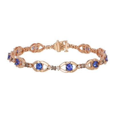 Le Vian Grand Sample Sale™ Bracelet featuring Blueberry Tanzanite®,  Chocolate Diamonds®,  Vanilla Diamonds® set in 14K Strawberry Gold®