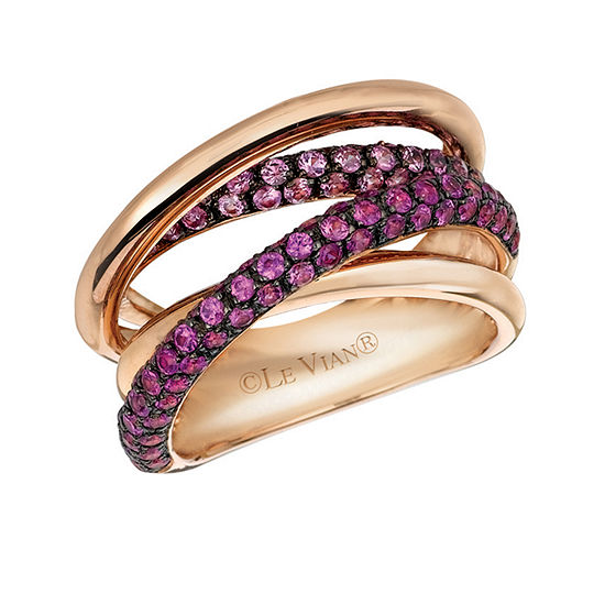 Le Vian Grand Sample Sale™ Ring featuring Bubble Gum Pink Sapphire™ set in 14K Strawberry Gold®