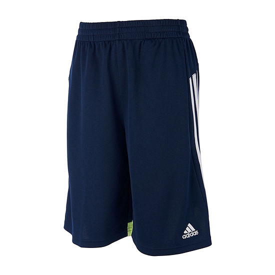 adidas Boys Mid Rise Workout Shorts - Toddler