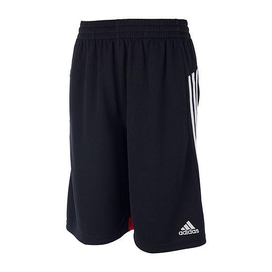 adidas Boys Mid Rise Workout Shorts - Toddler